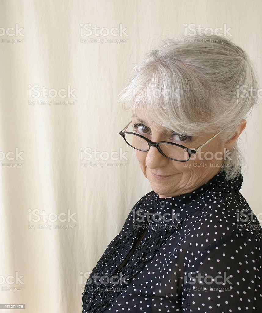 Condescending Senior Woman stock photo