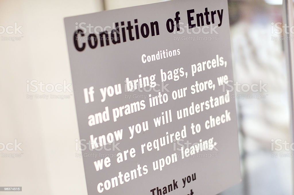 Condition of Entry royalty-free stock photo