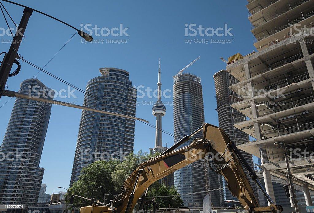 Condo construction site royalty-free stock photo