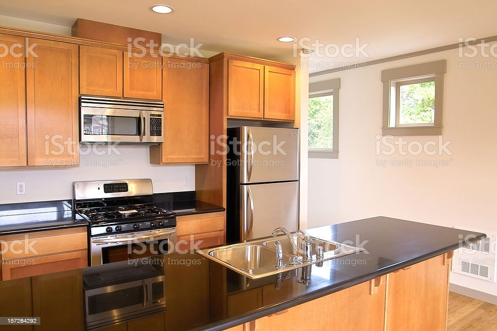 Condo Kitchen stock photo
