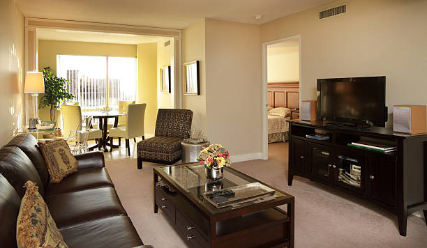 Condo Rental in Toronto Interior of condominium rental apartment in Toronto, Canada. man cave stock pictures, royalty-free photos & images