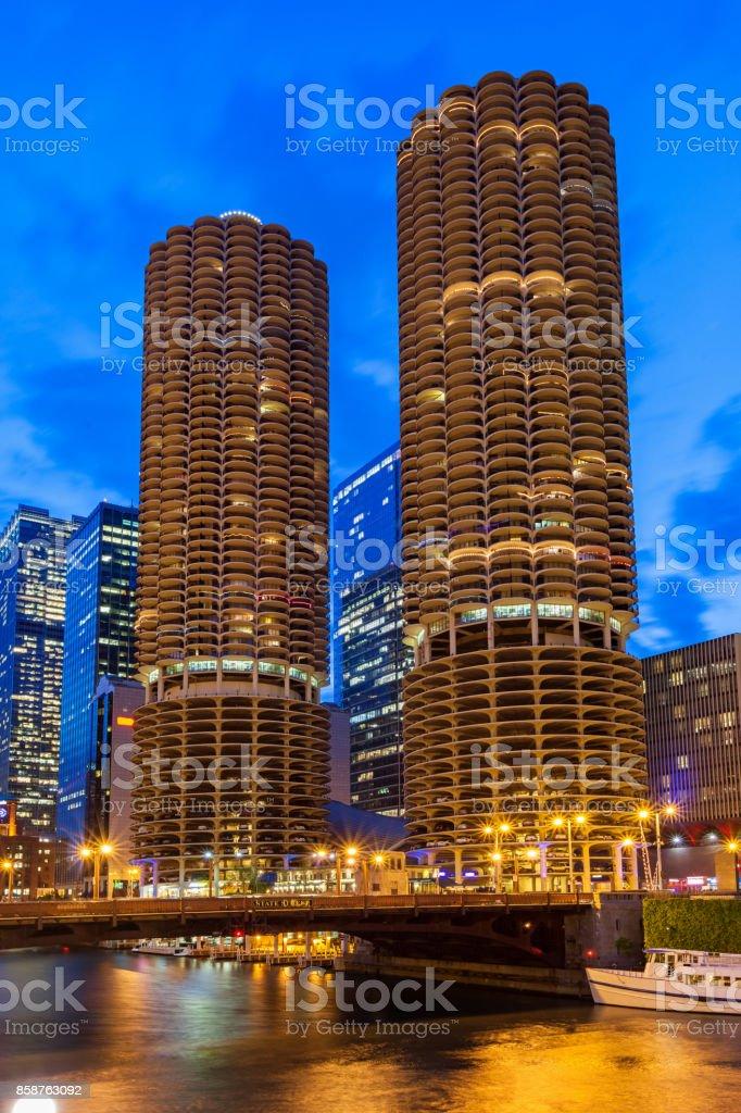 Condo towers in Chicago Illinois USA stock photo