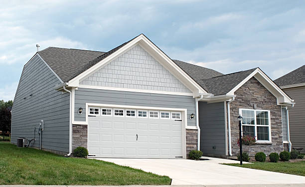 Condo with Two-car Garage stock photo