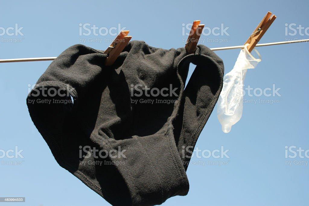 Condom with underwear royalty-free stock photo