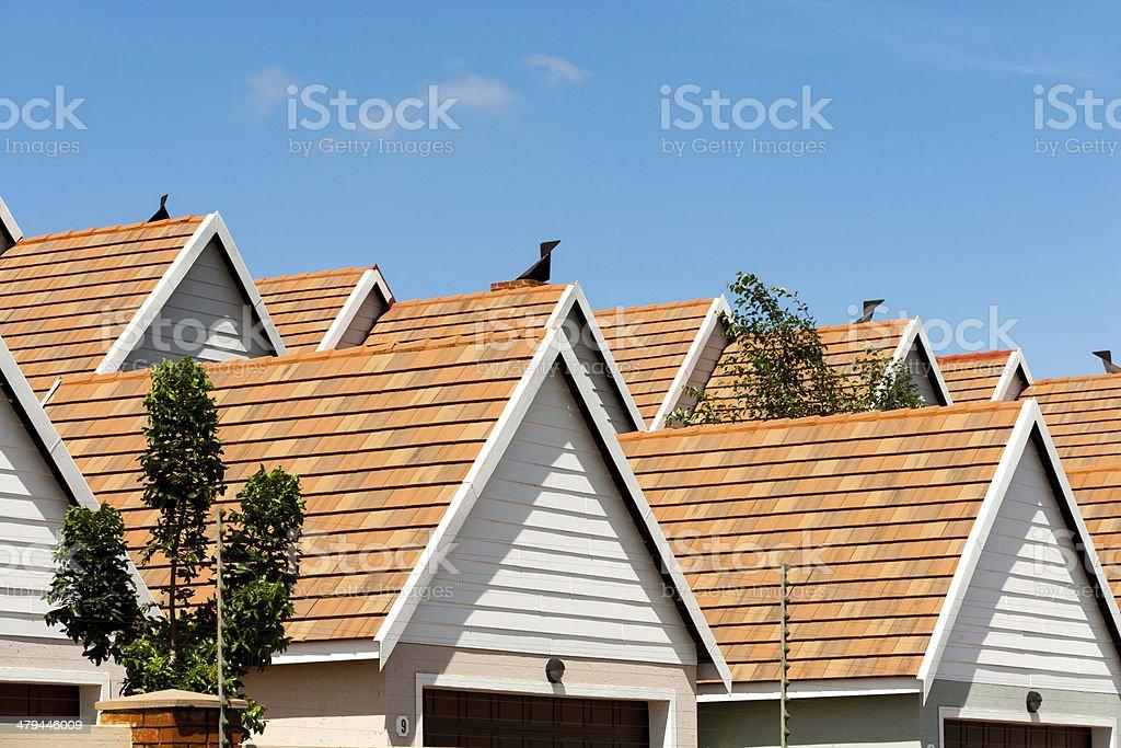 Condomimium house rooftops. stock photo