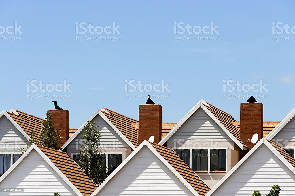 Condomimium houses. stock photo