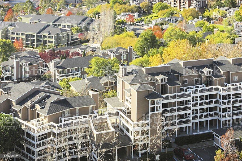 Condominium Apartments Suburban Neighborhood stock photo