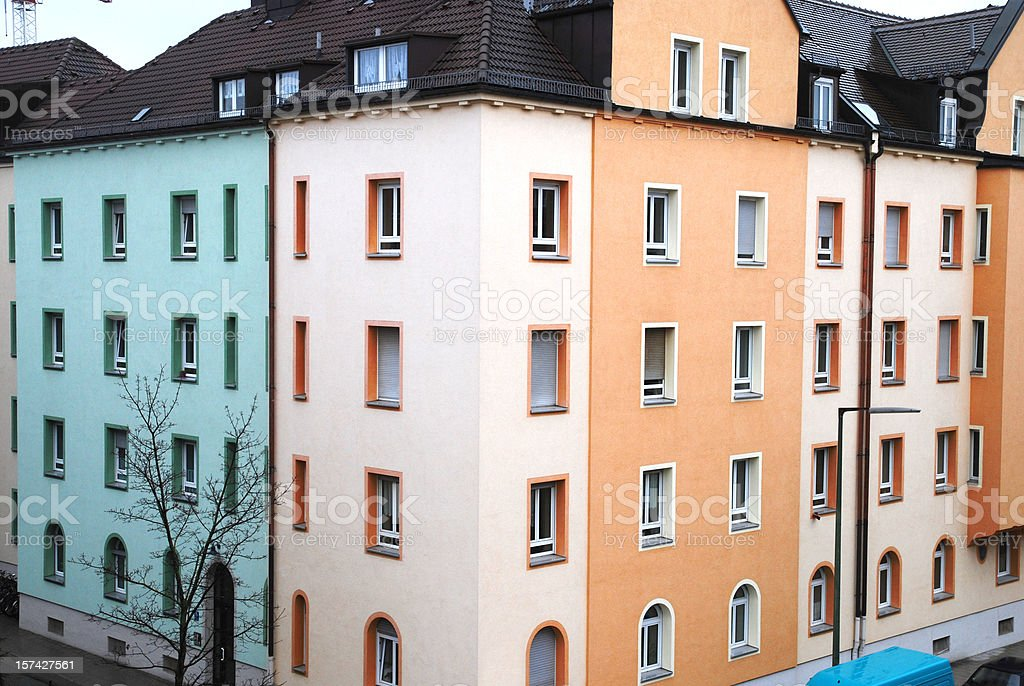 condominium appartment building in germany royalty-free stock photo