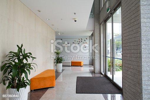 istock Condominium building entrance 657360840