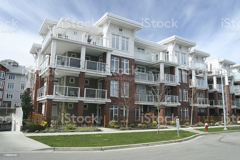 Condominium Building stock photo