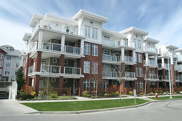 Condominium Building stock photo
