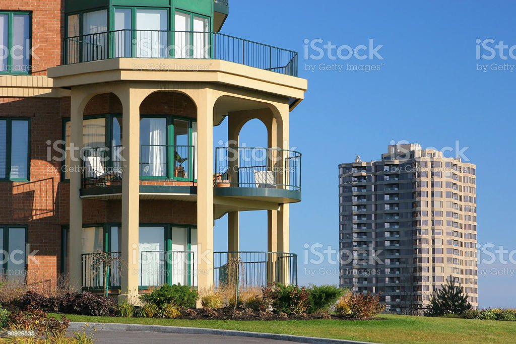 Condominium Buildings stock photo