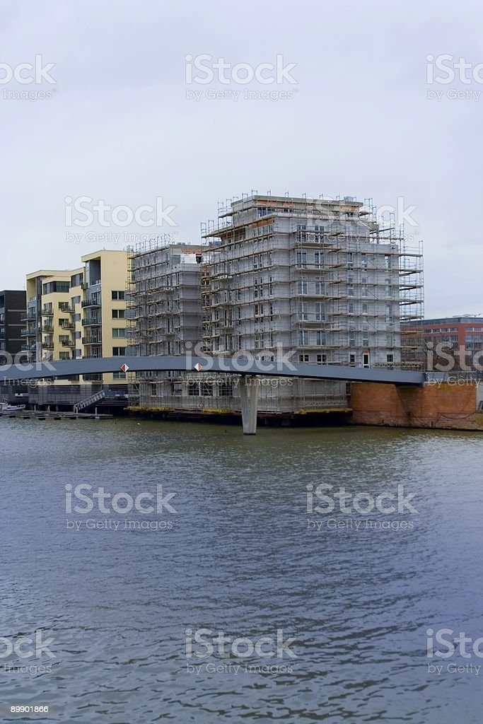 Condominium Construction royalty-free stock photo