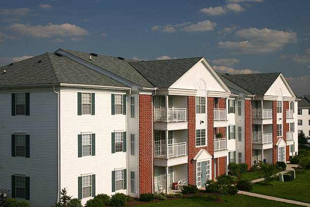 Condominium near Cleveland, Ohio stock photo