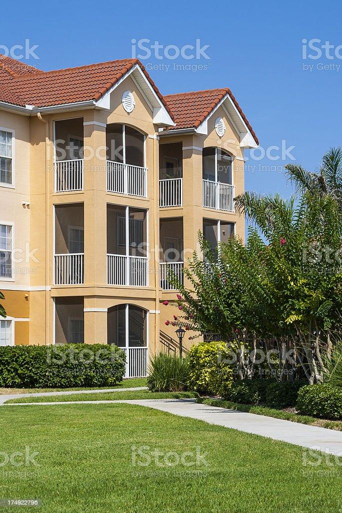 Condominiums in Florida royalty-free stock photo