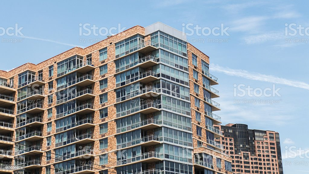 Condominiums in Northern New Jersey, USA stock photo