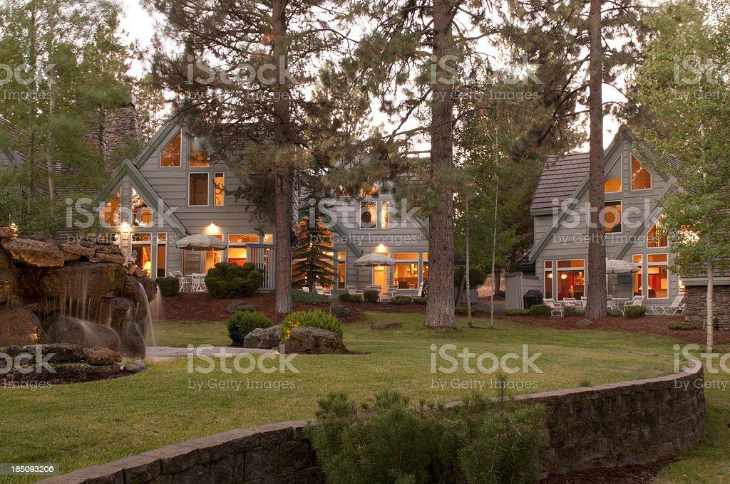 condominiums/townhouses stock photo