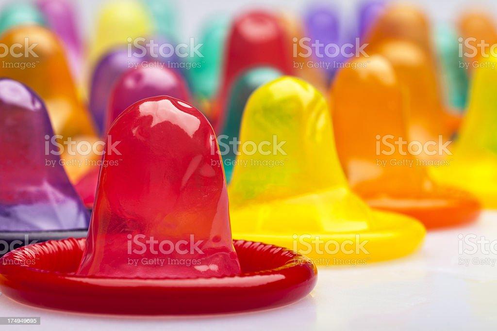 Condoms Macro stock photo