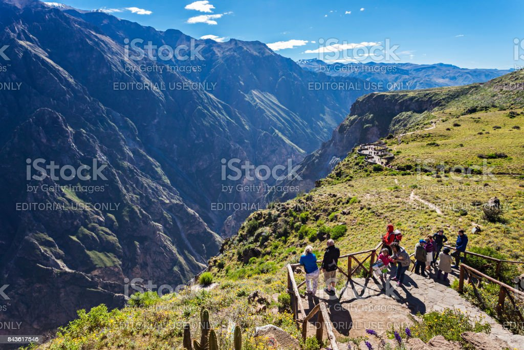 Cruz Del Condor stock photo