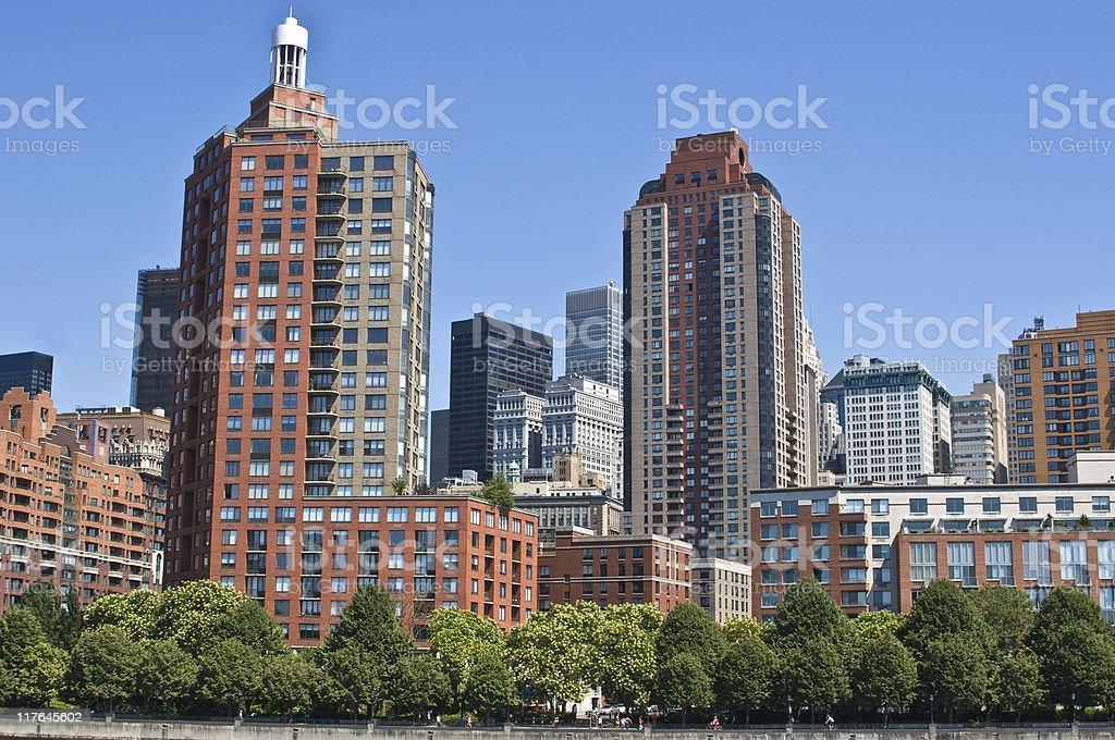 Condos along Hudson River in New York City stock photo