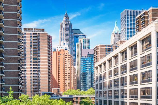 Condos and office buildings Lower Manhattan New York City USA stock photo