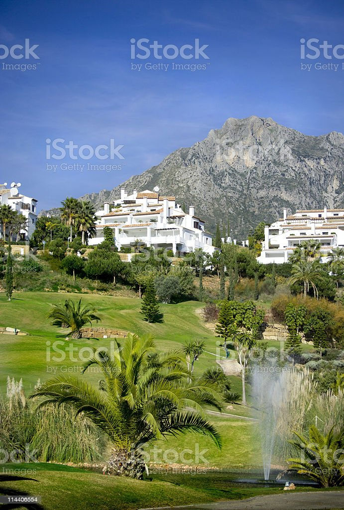 Condos in Southern Spain stock photo