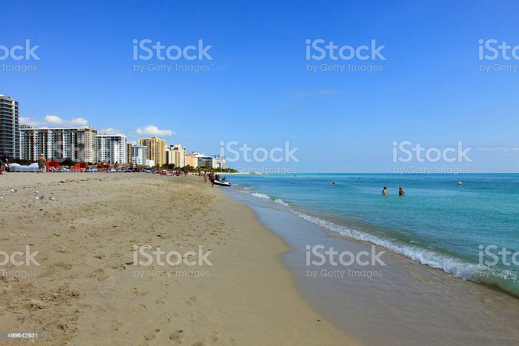 Condos on South Beach stock photo