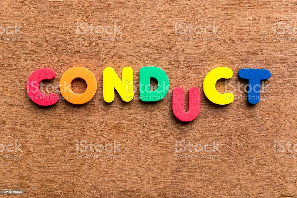 conduct stock photo