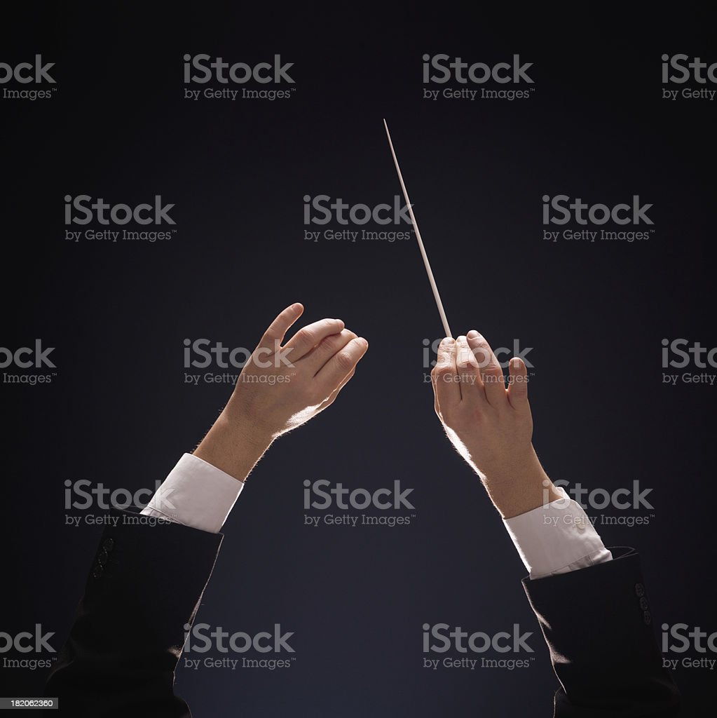 conducting buttons stock photo