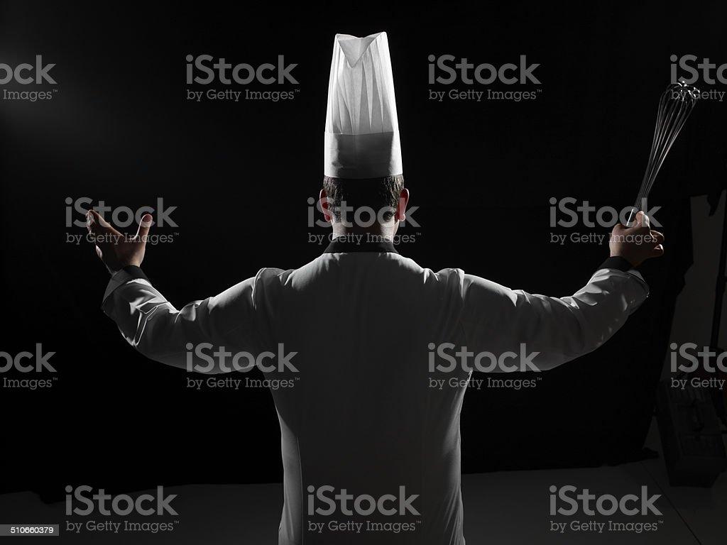 Conductor Chef stock photo
