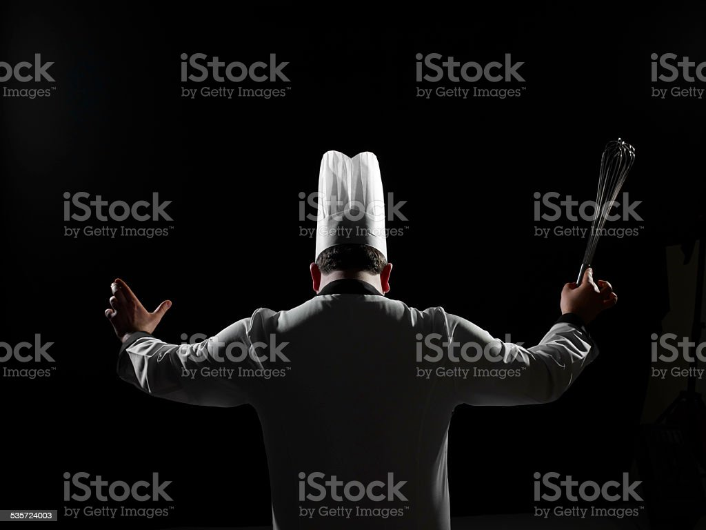 Conductor Chef stock photo