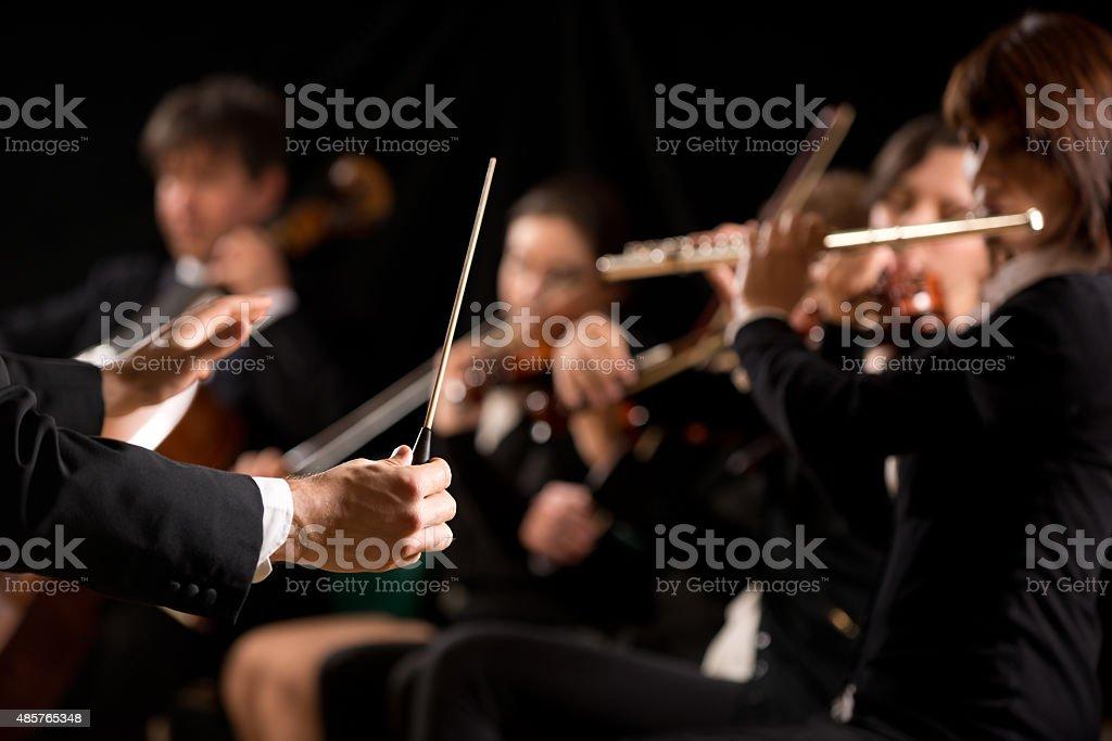 Dirigent Regie symphony orchestra - Lizenzfrei 2015 Stock-Foto