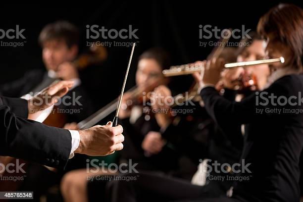 Dirigent Regie Symphony Orchestra Stockfoto und mehr Bilder von 2015