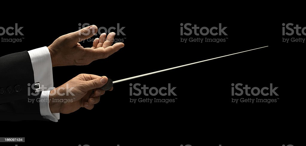 conductor hands stock photo