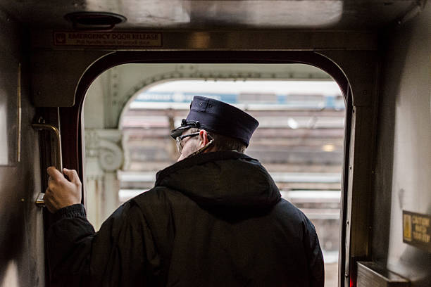 conductor on departure - transport conductor stock photos and pictures