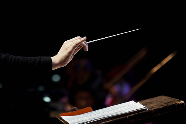 conductor's hand - music style stock pictures, royalty-free photos & images