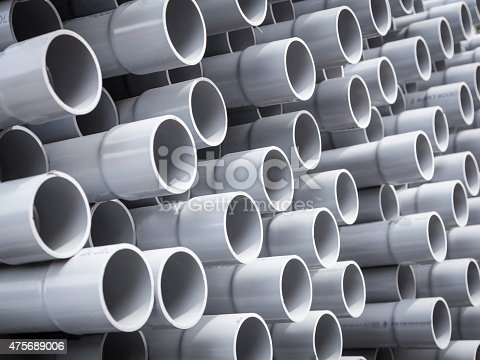 Pipes for fiber optic in field ready for installation.