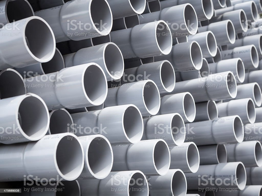 Conduit for fiber optic installation stock photo