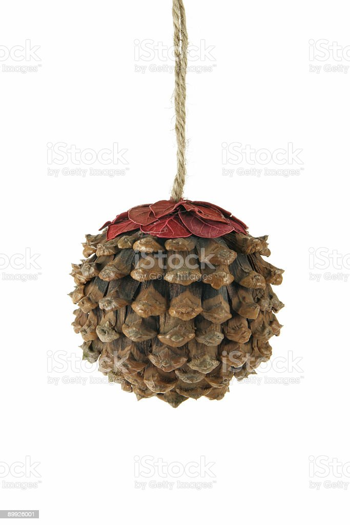 Cone as Christmas ball royalty-free stock photo
