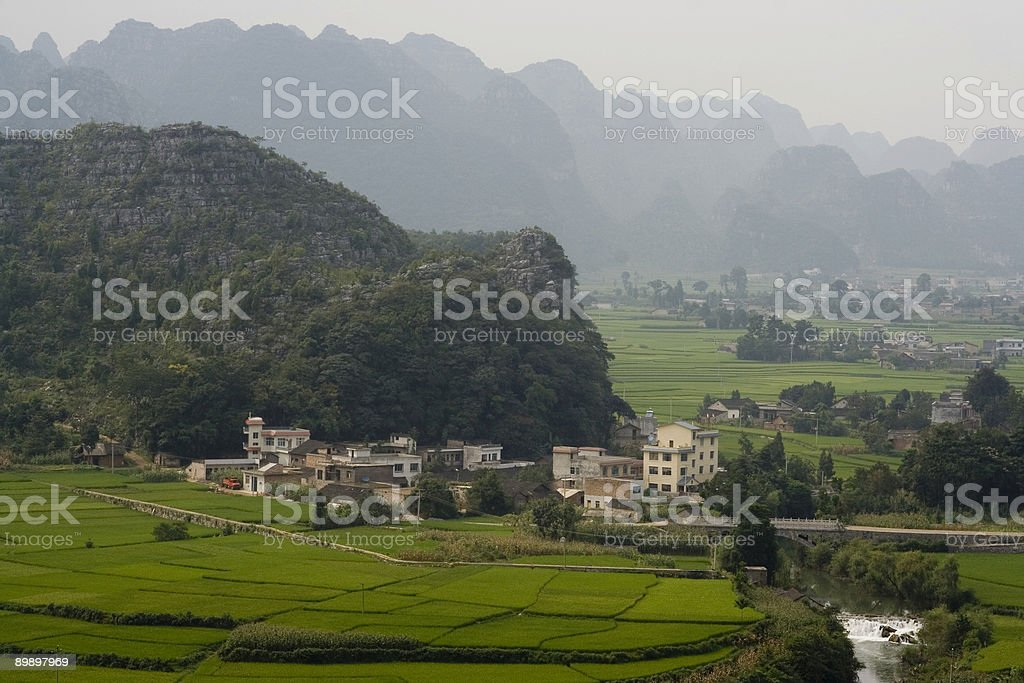 Cone Karst, Guizhou, China foto de stock royalty-free