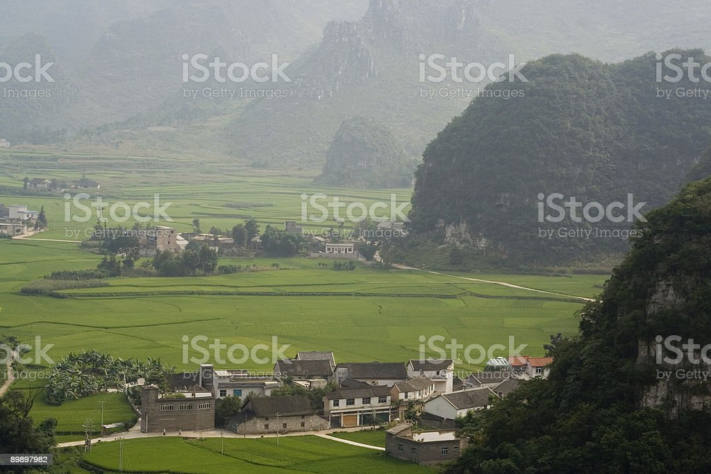 Cono Karst en Guizhou, China foto de stock libre de derechos