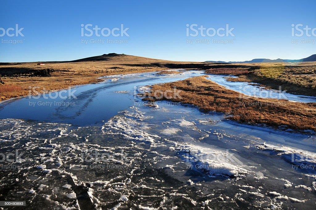 Conejos River, Colorado stock photo