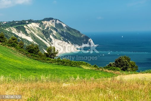 istock Conero, Ancona - Cliffs, Coastline and Grass Area 1162347322
