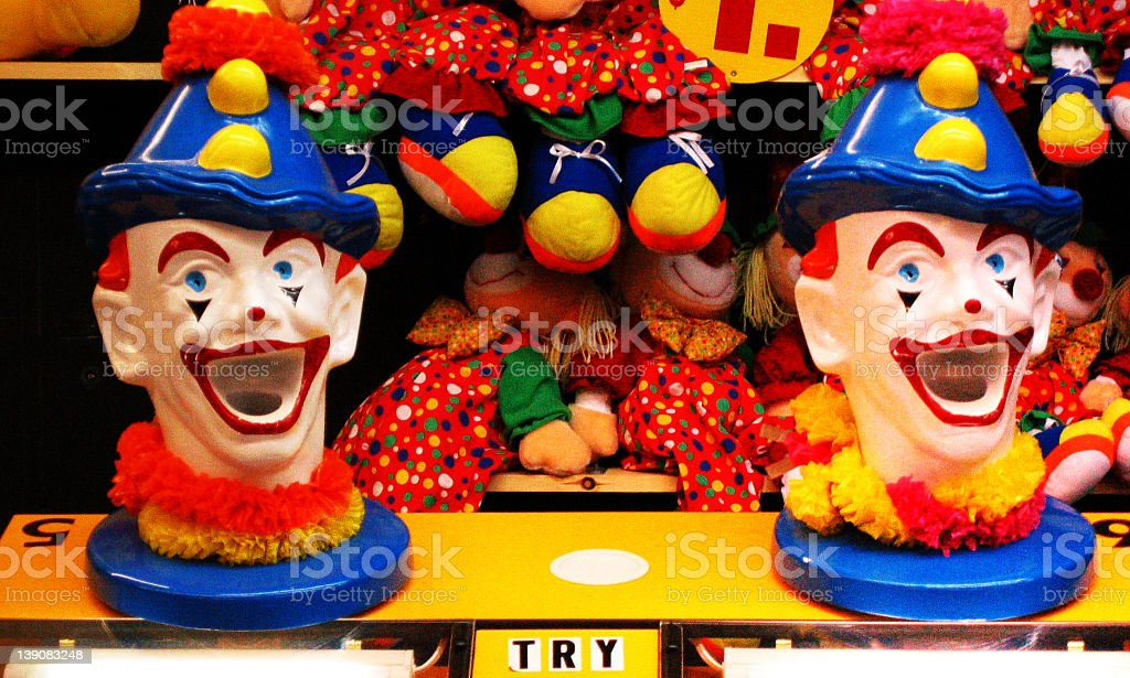 coney island arcade clowns royalty-free stock photo