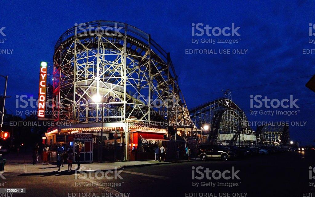 Coney Island Cyclone stock photo
