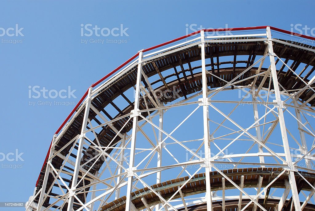 Coney Island Cyclone Rollercoaster royalty-free stock photo