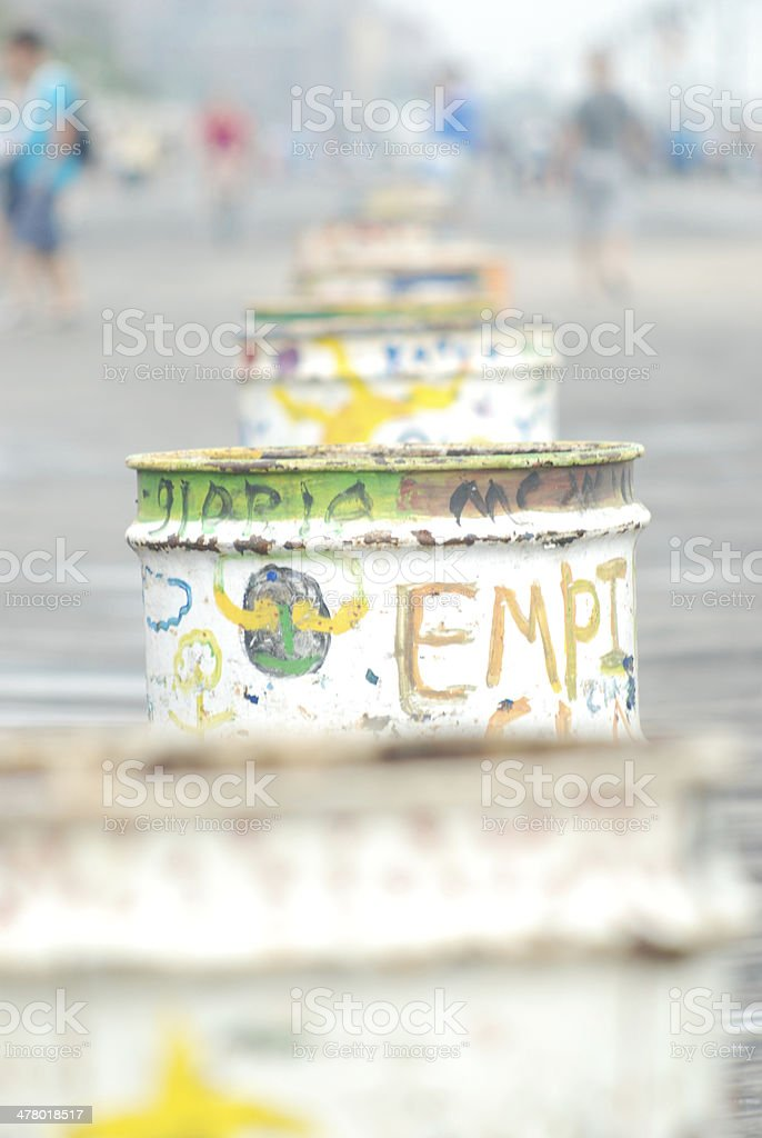 Coney Island Trash Cans - New York royalty-free stock photo