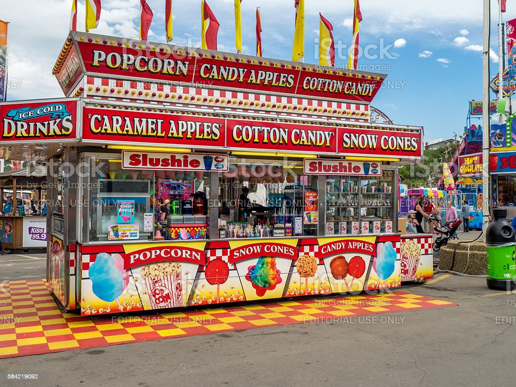 Confection booth at the the Calgary Stampede stock photo