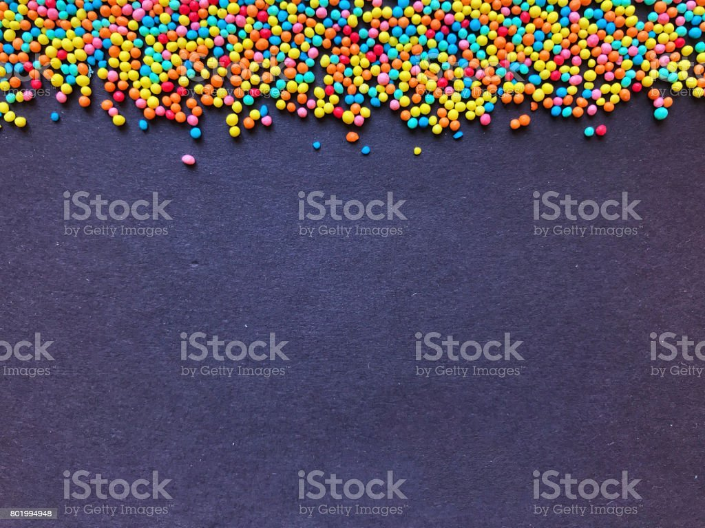 Confectionery sprinkling colored balls stock photo