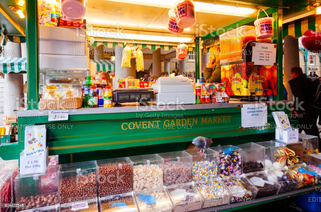Confectionery Stall At Covent Garden Market London Uk Stock Photo ...